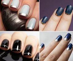 fancy  nails - Can use tape or brush for fine line