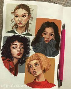 16 ideas gcse art sketchbook people for 2019 Pretty Art, Cute Art, Illustration Design Graphique, Digital Illustration, Illustrator, Art Et Design, Diy Design, Arte Sketchbook, Fashion Sketchbook