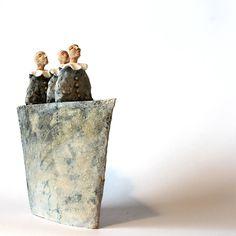 Boat and circus, Ceramic Sculpture, Unique Ceramic Figurine,  figurine by arekszwed on Etsy