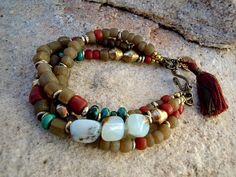 Peruvian+Opal+Bracelet+/+Bohemian+Bracelet+/+Trade+by+Syrena56,+$49.00