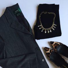 Ralph Lauren wool blazer Grey blazer in excellent condition. 87% wool, 8% nylon, 5% elastic. Ralph Lauren Jackets & Coats Blazers