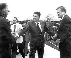 Ronald Reagan with John Wayne.