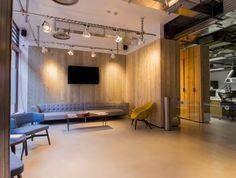 The reception features a bespoke three-metre-long sofa