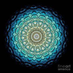 Kaleidoscope Aquamarine Bubbles by Amy Cicconi