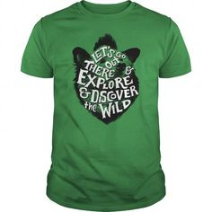 Explore and Discover the Wild - Cool Hiking Outdoor Bear Illustration T-Shirt T-Shirts, Hoodies (19$ ==► Order Here!)