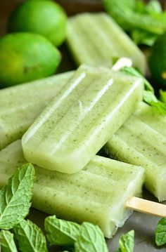 Honeydew Mojito Popsicles. from willcookforsmiles.com