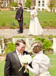 "100 Sentimental Wedding Ideas - Do a ""First Look"" with Dad!"