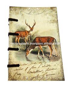 digital deer pair folded hands print notebook diary journal sketch book writing pad travelers diary journal