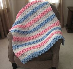 Crocodile Rock Crochet Baby Blanket | You'll be singing a sweet song while you work up this pretty little number.