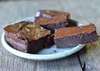 gluten free brownies using tofu and miso