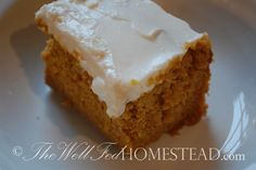 Coconut Flour Pumpkin Cake with Cream Cheese Frosting