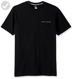Volcom Men's Sound Maze Short Sleeve Pocket Tee, Black, XXL - Mens world (*Amazon Partner-Link)