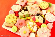 2012 Hinamatsuri cookies Biscuit Cookies, Cupcake Cookies, Girls Day Japan, Japanese Cookies, Hina Matsuri, Japanese Festival, Tanabata, Rising Sun, Cookie Ideas