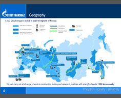 Отрадно, что ЗАО Стройтрансгаз использует для корпоративной презентации разработанные нами иллюстрации, в частности интерактивную карту проектов компании.
