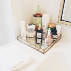 Image result for bathroom counters + face products