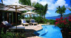stone terrace up to pool - British Virgin Islands