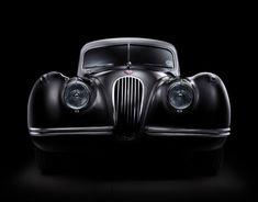 Jaguar XK 120 car fine art (FDL technique)