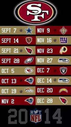 Here we come niners come on and win! So Excited for sunday. Kick this illness Niners Girl, Sf Niners, Forty Niners, Football Baby, Football Season, 49ers Schedule, 49ers Fans, Nfl 49ers, Professional Football
