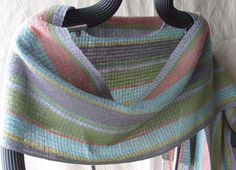 Handwoven Shawl Woven Scarf Wrap Early Dawn... by barefootweaver, $98.00