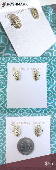 LAST ONE! NWT Kendra Scott Bryant Gold Studs The intricate gold filigree of these earrings adds a touch of elegance to your everyday! These earrings are small but big in style! Add to your collection or start a new one! Perfect condition, never worn! Kendra Scott Jewelry Earrings