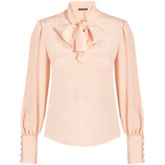 dc68df80c8058e Alexander Mcqueen Pussy-bow Blouse featuring polyvore
