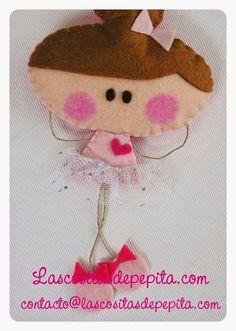 "Las cositas de Pepita: Muñecas de Fieltro ""Pepita Bailarina"" y ""Pepita Ro..."