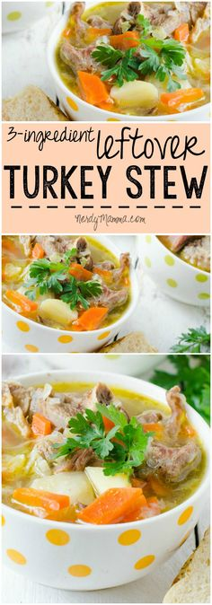 I always have so much leftover turkey after Thanksgiving.With this recipe, though, there won't be any leftovers left over! LOL! Savory Leftover Turkey Stew with only 3-ingredients. Awesome.