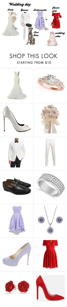 """Wedding Day set"" by fashionriverdale on Polyvore featuring Allurez, TaylorSays, Ralph Lauren, Gucci, BERRICLE, Brian Atwood, Chicwish, Bling Jewelry and Lauren Marinis"