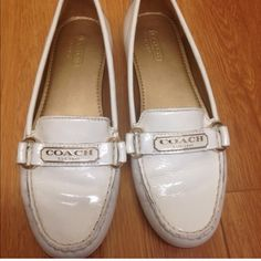 Coach shoes without box. Worn once Cute white comfortable Coach shoes for any age. Worn once great condition. Coach Shoes Flats & Loafers