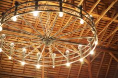 The Wagon Wheel Chandelier.