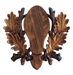 Handmade European Carved Hardwood Mounting Plaque Taxidermy
