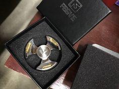 Fidget Spinner, Anxiety Spinner, ADHD Spinner, Anti Stress Spinner, Metal Spinner, Wind & Fire Titanium, Ceramic Bearing Spinner