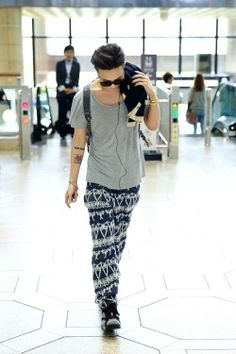 G-Dragon @ Incheon Airport to Japan to attend the CHANEL 2013/14 'Paris-Dallas Metiers d'Art Collection' in Tokyo