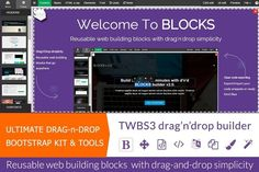Bootstrap drag-n-drop BLOCKS v.2.1.  by Bootstraptor on Creative Market