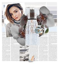 """""""Miranda Kerr"""" by alina ❤ liked on Polyvore featuring Kerr®, Christian Louboutin, Apple, self-portrait, Abrams and Chloé"""