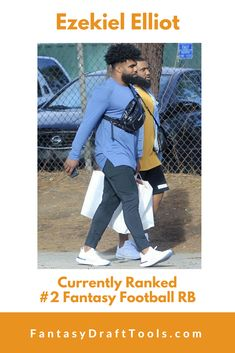Ezekiel Elliot : Currently Ranked #2 Fantasy Football RB #ManPurse Fantasy Football Rankings, Fantasy Draft, Fantasy Baseball, Baseball Cards, Basketball, Netball