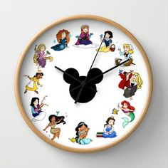 Time To Be A Princess (Anna) Wall Clock by Katie Simpson - $30.00