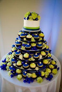 Amoreena's Photography Blog: weddings- blue and green cupcakes
