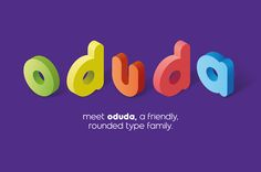 oduda is a geometric, rounded typeface designed by thmbnl. graphic design in…