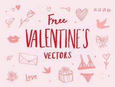 Valentine's Day Vector Illustrations by June Letters Studio on Creative Market Valentines Illustration, Business Illustration, Cute Illustration, Graphic Design Illustration, Business Brochure, Business Card Logo, Typography Layout, Lettering, Valentines Day Doodles