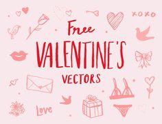 Free Valentine's Day Doodle Vectors! — June Letters Studio