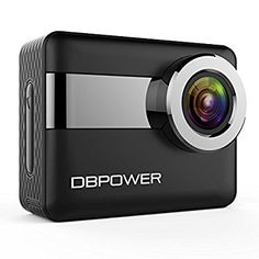 "DBPOWER N6 4K Touchscreen Action Camera, 2.31"" LCD Touchscreen 20MP Sony Image Sensor 170° Wide-Angle Waterproof WiFi Sports Camera, 2 Batteries included in Accessories Kit (N6-Action Camera)"
