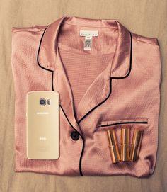 Inside Stylist and Editor Liz Uy's Closet: Fleur du Mal pink silk pajama top | coveteur.com |