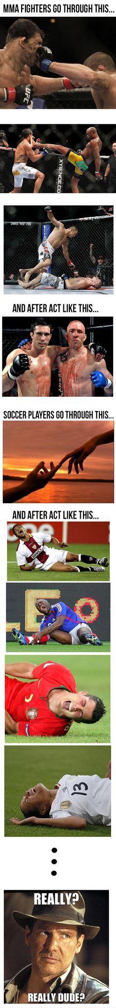MMA vs. Soccer.