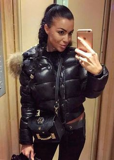 Moncler, Other Outfits, Cute Outfits, Padded Jacket, Leather Jacket, Winter Fashion, Women's Fashion, Down Puffer Coat, Puffy Jacket