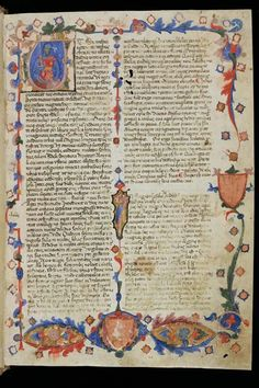 """This 14th century parchment manuscript preserves the """"Historia destructionis Troiae"""" by Guido de Columnis for posterity. Its 187 miniatures crafted by Giustino da Forli portray the most important scenes of the Trojan War against a background of the Gothic architecture of Venice."""