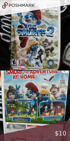 The Smurfs 2 (Nintendo Wii, 2013) Game is in GREAT condition but the case shows signs of wear:) Timed to coincide with the release of the animated movie of the same name, The Smurfs 2 puts players in control of the pint-sized blue heroes as they go on an adventure that takes them through Paris, New York, and the arctic tundra. Gamers can play alone or join friends for multiplayer action as they make their way through more than 30 side-scrolling levels spread across six worlds. Toys Puzzles…