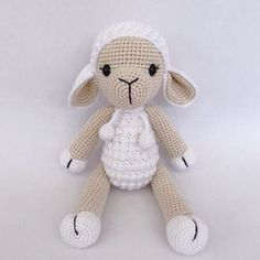 Crochet Sheep Free Pattern, Crochet Bunny, Crochet Toys Patterns, Amigurumi Patterns, Crochet Dolls, Free Crochet, Softie Pattern, Easy Crochet Animals, Dou Dou