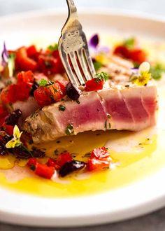 Tuna Steak | RecipeTin Eats Tuna Recipes, Seafood Recipes, Cooking Recipes, Fresh Tuna Steak Recipes, Shellfish Recipes, Seafood Dishes, Kitchen Recipes, Easy Recipes, Soup Recipes