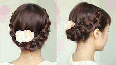 Crochet Stitch Updo Hairstyle for Medium Long Hair Tutorial